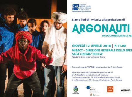 Argonauti al Mibact / Roma – giovedi 12 aprile
